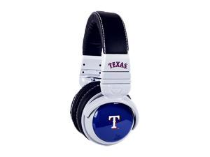BiGR Audio XLMLBTR1 Over-Ear Texas Rangers Headphones with In-Line Mic