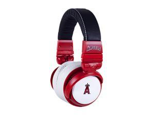 BiGR Audio XLMLBCA1 Over-Ear Los Angeles Angels Headphones with In-Line Mic