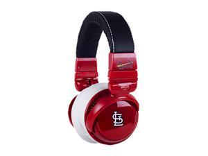 BiGR Audio XLMLBSLC1 3.5mm Connector Over-Ear St. Louis Cardinals Headphones with In-Line Mic