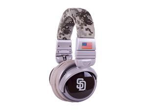 BiGR Audio XLMLBSDP2 3.5mm Connector Over-Ear San Diego Padres Headphones with In-Line Mic