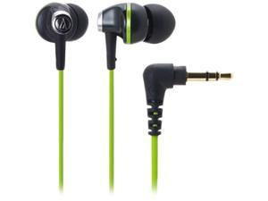 Audio-Technica Black,Green Binaural Headphone/Headset