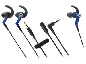 Audio-Technica ATH-CKP500 SonicSport In-ear Headphones - Blue