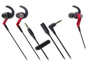 Audio-Technica ATH-CKP500 SonicSport In-ear Headphones - Red