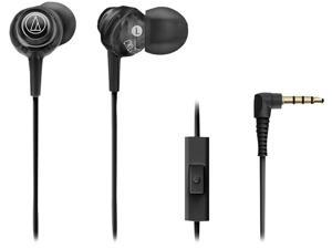 Audio-Technica ATH-CKL202iSBK Black In-Ear Communication Earbuds with Microphone (Black)