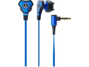Audio-Technica ATH-CHX5iS SonicFuel Hybrid Earbud Headphones for Smartphones - Blue