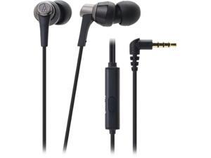 Audio-Technica ATH-CKR3iS SonicPro In-ear Headphones with In-line Mic & Control - Black