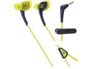 Audio-Technica ATH-SPORT2 SonicSport In-ear Headphones - Navy/Yellow