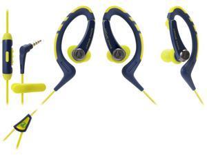 Audio-Technica ATH-SPORT1 SonicSport In-ear Headphones - Navy/Yellow