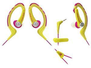 Audio-Technica ATH-SPORT1 SonicSport In-ear Headphones - Yellow/Pink