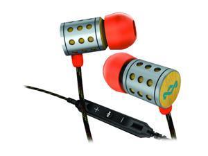 House of Marley EM-JE023-SU In-Ear Midnight Ravers Headphone w/ Mic & 3-Button Controller - Sun