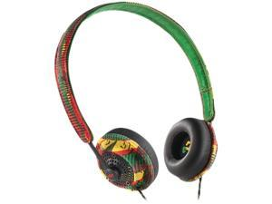 House of Marley Harambe Rasta EM-JH041-RA 3.5mm Connector Binaural On-Ear Headphones