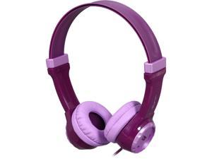 JLAB Purple JK-PURPLE-BOX 3.5mm Connector Kids Volume Limiting Headphones - Purple