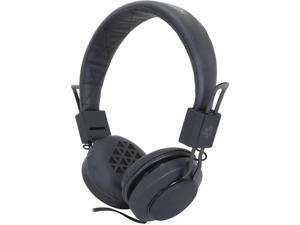 JLAB Black INTRO-BLK-BOX Intro Rubberized Headphones with Mic -