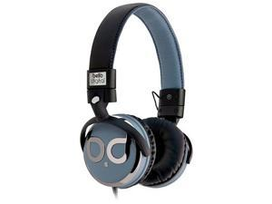 BellO Black/Blue & Dark Chrome Color BDH821BKBL Circumaural Over-the-Head Headphones with Track Control and Microphone