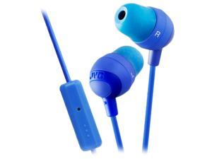 JVC Blue HAFR37A Marshmallow Inner Ear With Microphone & Remote
