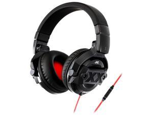 JVC HAMR77X Xtreme Xplosives DJ Around-the-Ear Headphones with In-Line Remote and Microphone