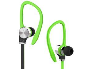 Fuji Labs Green AUFJ-SQNTS306GR 3.5mm Connector Sonique SQ306 Premium Titanium In-Ear Headphones
