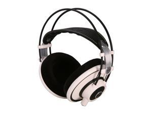 AKG White with Lime Accents Q701WHT Over-Ear Quincy Jones Signature Line Reference-Class Premium Headphone (White)
