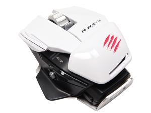 Mad Catz R.A.T. M MCB437100001/04/1 White Laser Gaming Mouse