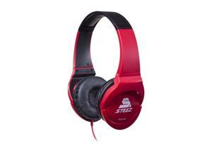 Pioneer SE-MJ721I-R STEEZ Dance - Inspired Effects On-Ear Headphones with Apple In-Line Mic/Control - Red