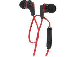 Skullcandy Black/Red S2IKDY-010 3.5mm Connector Ink'd 2.0 Earbud Headphones with Mic, Black/ Red