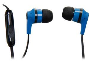 Skullcandy Blue/ Black S2IKDY-101 Ink'd 2.0 Earbud Headphones with Mic, Blue/ Black