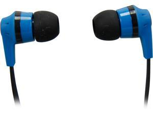 Skullcandy Blue/Black S2IKDZ-101 3.5mm Connector Ink'd 2.0 Earbud Headphones, Blue/ Black