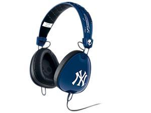 Skullcandy Yankees Navy/ White S6AVFM-277 3.5mm Connector Aviator Headphones with Mic3, Yankees Navy/ White