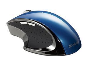 Verbatim Ergo Mouse 97593 Blue 1 x Wheel USB 2.0 RF Wireless Optical Mouse
