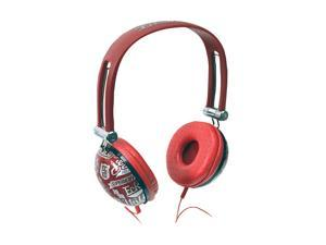 Ecko Red EKU-IMP-COLRD Binaural Impact Headphones MIC & Controls Red