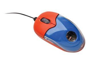 Ergoguys KM200 Red, Blue 3 Buttons Tilt Wheel USB or PS/2 Wired Optical Califone Red Blue Mini Mouse for Child Size Hand