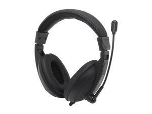 Pixxo HS-780-B Circumaural Multimedia Headset with Microphone (Black)