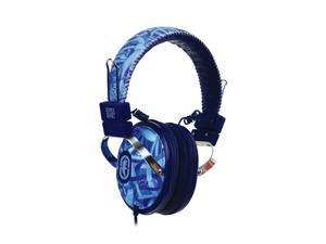 Ecko Ecko Exhibit Blue EKU-EXH-BL On Ear Headphone/Mic - Blue