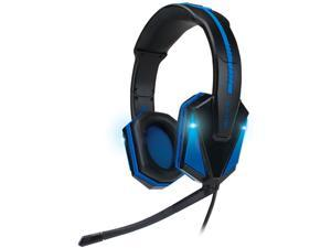 ENHANCE GX-H1 PC Gaming Headset with Virtual 7.1 Surround Sound , Blue LED's & In-Line Volume Control