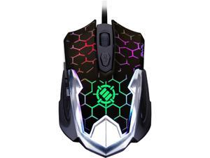 ENHANCE GX-M4 2400 DPI Gaming Mouse with Ergonomic Design , Soft-Touch Finish & 7 LED Cycling Colors