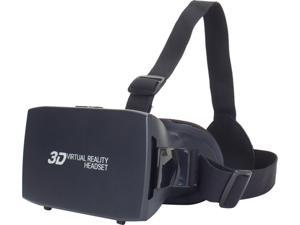 ENHANCE 3D VR Headset with Comfortable Nose-Padding, Adjustable Head Strap, Adjustable Object and Pupillary Distance