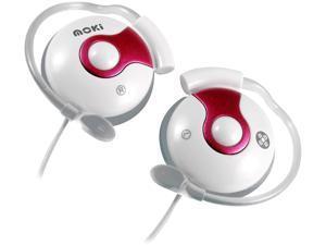 Moki Pink ACCHCOLP 3.5mm (Nickel Plated) Connector Clip On Earphones - Pink
