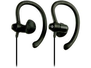 Moki Black ACCHPS90BK 90-degree Sports Earphones - Black