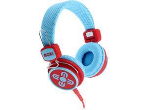 Moki Blue and Red ACC HPKSBR 3.5mm Connector Kid Safe Volume Limited Headphones