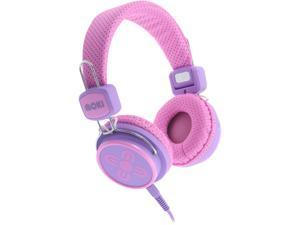 Moki Pink and Purple ACC HPKSPP 3.5mm Connector Kid Safe Volume Limited Headphones