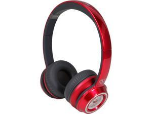 Monster NCredible NTune Candy Red On-Ear Headphones w/ ControlTalk Universal - 128506