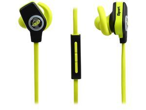 Monster MH ISRT WLS IE BK BT iSport SuperSlim Bluetooth Wireless In-Ear Sport Headphones - Green