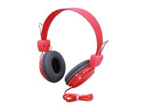 BOOM Renegade Red/Grey RGRO Circumaural Over Hear Headphone (Red/Grey)