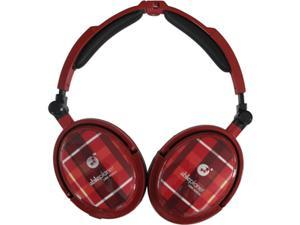 AblePlanet EXTREME Red XNC230R Circumaural Foldable Active Noise Cancelling Headphone