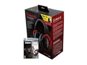 HyperX Cloud II Gaming Headset with 7.1 Virtual Surround Sound - Red - Rainbow Six Siege Edition