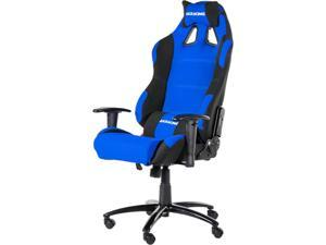 Akracing AK-7018 Ergonomic Series Executive Racing Style Computer Gaming Office Chair with Lumbar Support and Headrest Pillow Included - Black / Blue