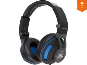 JBL Synchros S300 Premium On-Ear Headphones for iOS with built-in remote/Microphone - Black/Blue
