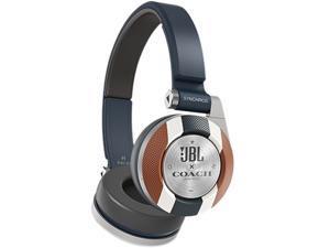 JBL Coach E40BTVSCOACH Limited Edition On-Ear Bluetooth Headphones - Navy Blue/Brown