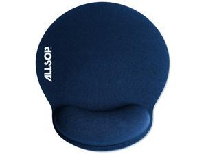 Allsop 30206 Memory Foam Mouse Pad with Wrist Rest (Blue)