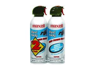 Maxell 190026 CA-4 Blast Away Canned Air Duster - 2 Pack